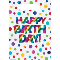 Parti Dünyası - Happy Birthday Hediye Poşeti 8 Adet