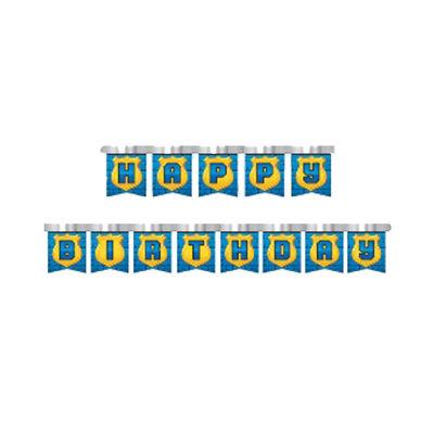 Happy Birthday Mavi Harf Afiş