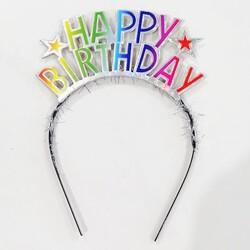 Parti Dünyası - Happy Birthday Metal Renkli Taç