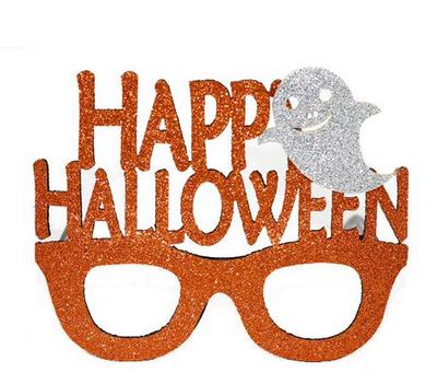 Happy Halloween Turuncu Parti Gözlüğü