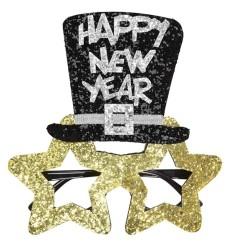 Parti Dünyası - Happy New Year Gold Pırıltılı Parti Gözlüğü