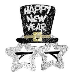 Parti Dünyası - Happy New Year Gümüş Pırıltılı Parti Gözlüğü