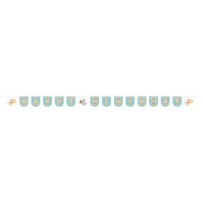 - Happy Woodland Mavi Bayrak Afişi