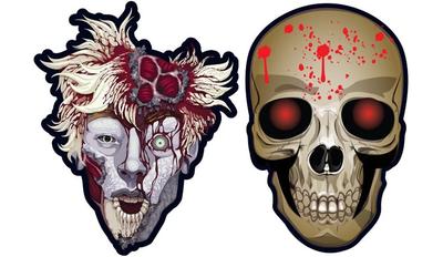 Kanlı Kafatası 6 lı Maske