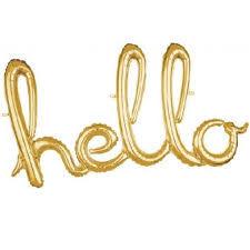 Hello Gold Renk Folyo Balon