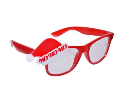 HOHOHO Noel Şapkalı Yılbaşı Gözlüğü