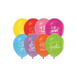 Parti Dünyası - I Love You Baskılı 10 lu Lateks Balon