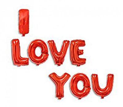 I LOVE YOU Kırmızı Harf Folyo Balon