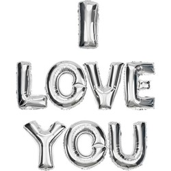 Parti Dünyası - I Love You Gümüş Renkli Harf Folyo Balon