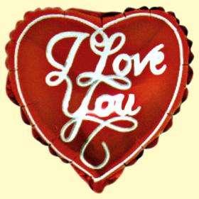I Love You Mini Shape Folyo Balon