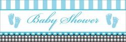 Parti Dünyası - Baby Shower Bebek Ayakları Mavi Dev Afiş