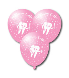 - İlk Dişim Çıktı Pembe Balon 10 Adet