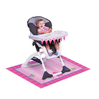 İlk Yaş Günüm Kız Mama Sandalyesi Süsleme Kiti