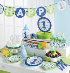 Parti - İlk Yaş Partim Mavi 1 Yaş SÜPER Parti Seti 24 KİŞİLİK