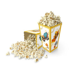 Parti Dünyası - İnşaat Partisi 8 Li Mısır Kutusu - Popcorn Kutusu