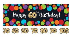 Parti Dünyası - Işıltılı Balonlar Harf Stickerlı Dev Afiş