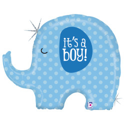 Parti - It is a BOY Elephant Folyo Balon 81 cm