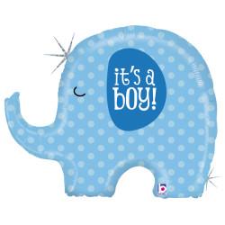 Parti - It is a BOY Elephant Folyo Balon 81 cm