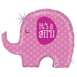 Parti - It is a GIRL Elephant Folyo Balon 81 cm