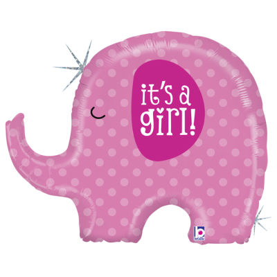 It is a GIRL Elephant Folyo Balon 81 cm