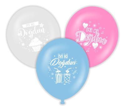 İyi Ki Doğdun 10 lu Karışık Renkli Latex Balon