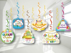 Parti Dünyası - İyi Ki Doğdun 6 Lı Tavan Süsü