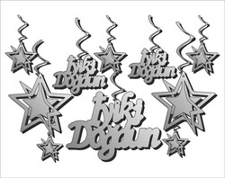 Parti Dünyası - İyi Ki Doğdun Gümüş 10 Lu Tavan Süsü