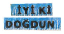Parti - İyi Kİ Doğdun Metalize Püsküllü Mavi Afiş