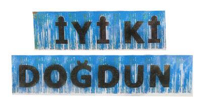 İyi Kİ Doğdun Metalize Püsküllü Mavi Afiş