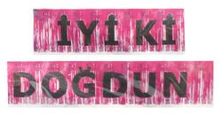 Parti Dünyası - İyi Ki Doğdun Metalize Püsküllü Pembe Afiş