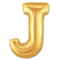 Parti Dünyası - J Harfi Altın Renk Folyo Balon 100 cm
