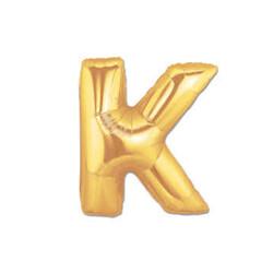 Parti Dünyası - K Harfi Altın Renk Folyo Balon 100 cm