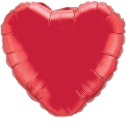 Parti - Kalp Folyo Balon MAT Kırmızı Renk 45 cm
