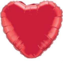 Parti Dünyası - Kalp Folyo Balon MAT Kırmızı Renk 45 cm