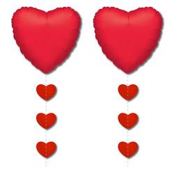 Parti - Kalpler Folyo Balon Kuyruğu