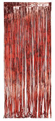 Kapı Perdesi Kırmızı Renk