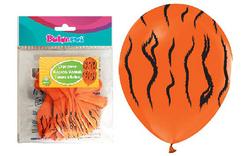 Parti Dünyası - Kaplan Baskılı 12 inç 14 lü balon