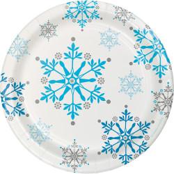 - Kar Taneleri Pasta Tabağı 8 Adet