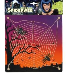Parti Dünyası - Karanlıkta Parlayan Örümcek Ağı ve 2 Adet Örümcek