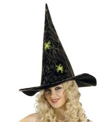 Parti - Karanlıkta Parlayan Örümcekli Delux Keçe Şapka