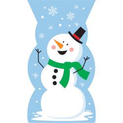 - Kardan Adam ve Kar Taneleri Şeker Poşeti 20 Adet