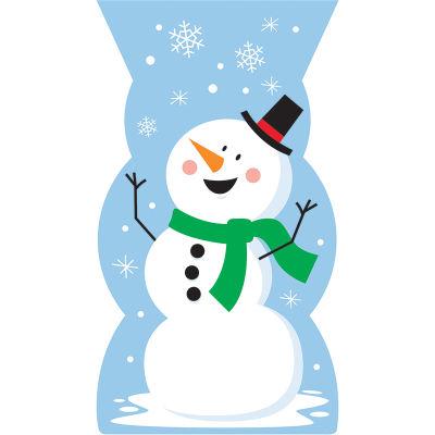 Kardan Adam ve Kar Taneleri Şeker Poşeti 20 Adet
