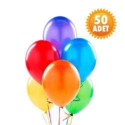 Parti Dünyası - Karışık Renk 50 Li Latex Balon