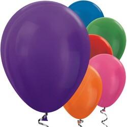 Parti Dünyası - Karışık Renkli METALİK 10 lu Latex Balon