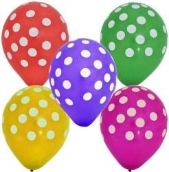 - Karışık Renkli Puanlı 10 lü Latex Balon