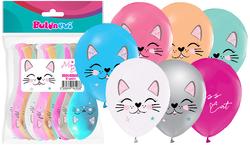 Parti Dünyası - Kedicikler Baskılı Latex Balon 12 Adet
