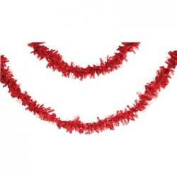 Parti Dünyası - Kırmız Pelür 7,65 mt. Uzunluğunda Asma Süs/Garlent