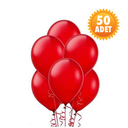 Parti - Kırmızı 50 Li Latex Balon