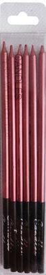 Kırmızı 6 Lı Pastel Mum 16 cm