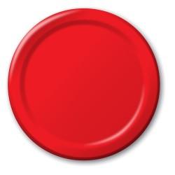 Parti Dünyası - Kırmızı 8 li Tabak